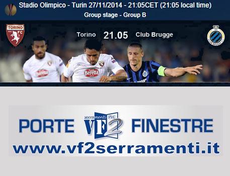 Torino-Brugge e Inter-Dnipro, in Europa League